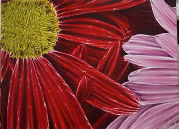 Chrysanthemums -- Oil on canvas -- 24 x 18 inches