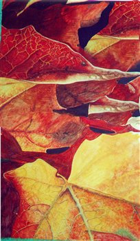 October 8 & 15, 2019 -- Abstracting Fall Leaves in Watercolour -- Aurora Cultural Centre