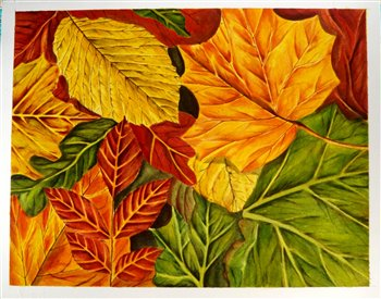 November 16 & 17, 2019 -- Abstracting Fall Leaves in Watercolour -- Elora Centre for the Arts